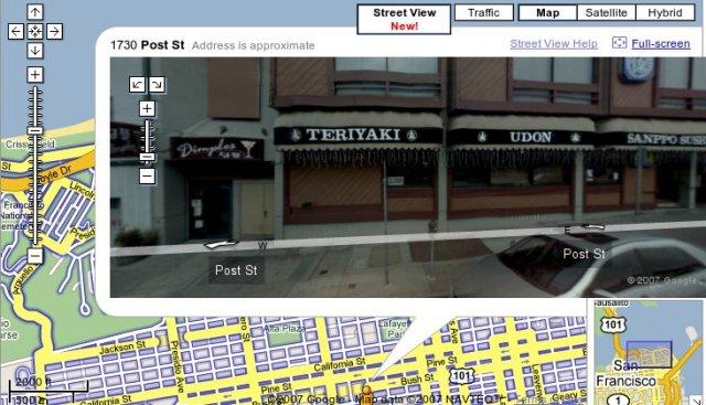 Google Maps: Street view 1